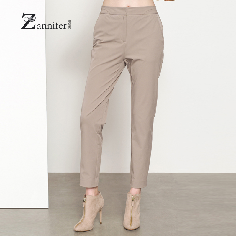 Zanni schäfer/zan borderies buddha 2016 autumn new minimalist beige pants straight jeans trousers female