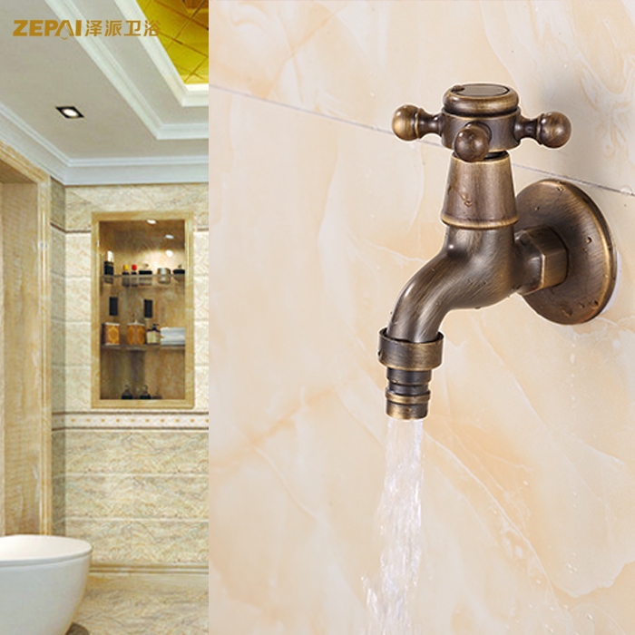 Ze faction european antique brass antique copper faucet mop pool faucet washer lengthened upgrade