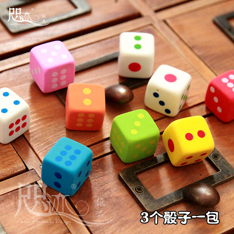 Ze trace creative dice party gifts exam rubber eraser school supplies student prizes cute rubber eraser children gifts