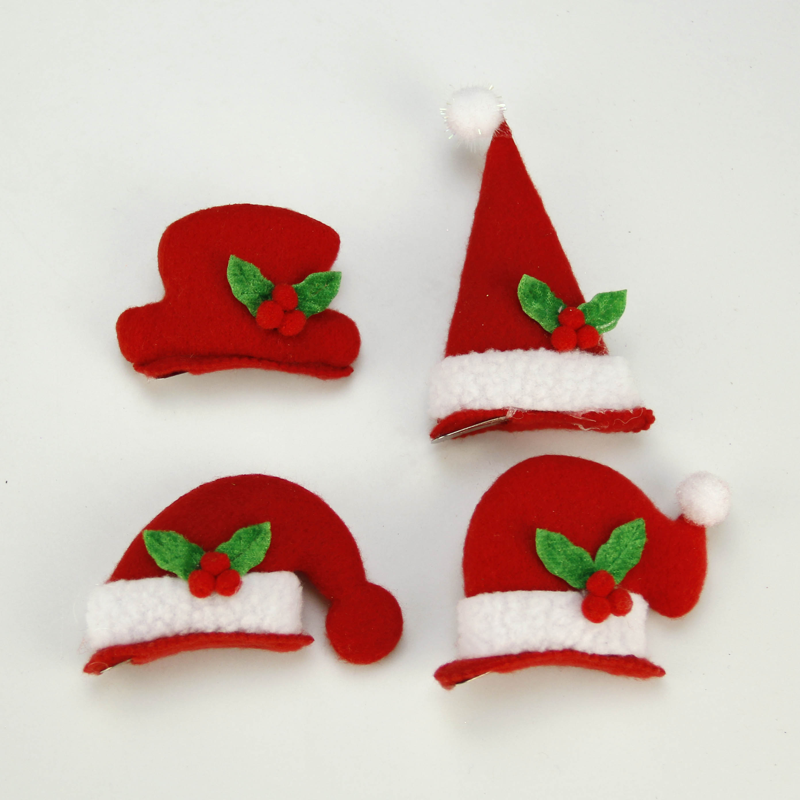 Zhe xi shun red cloth hairpin headdress christmas party 4 models optional christmas decorations christmas card issuers