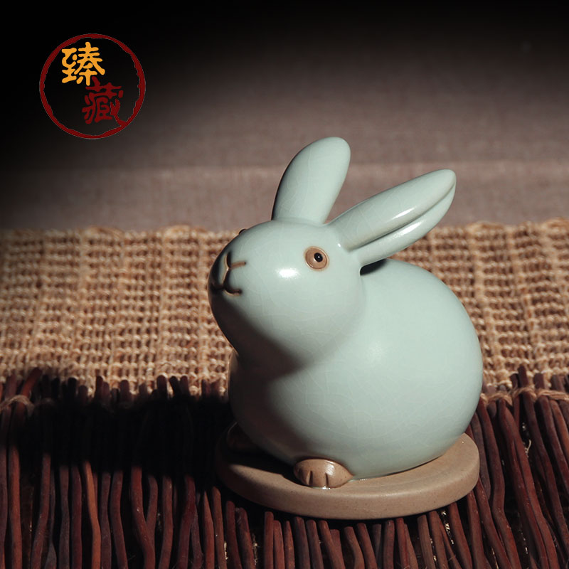 Zhen tibetan tea ru ru ru opening piece tea pet play tea tea tea pet lucky rabbit ceramic kung fu tea tea ornaments specials