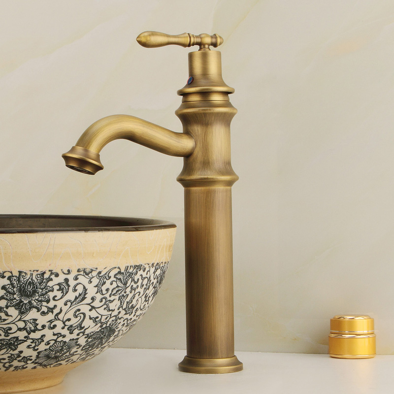 Zhennan in the bathroom bronze european antique copper faucet basin taps all copper faucet hot and cold water
