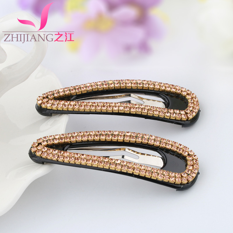 Zhijiang bb clip hairpin large rectangular side clip one pair of clip bangs clip hairpin korean female headdress hair accessories
