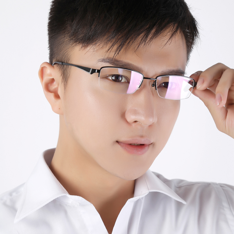 62cf3ca223 Buy Zhou guangming new ultralight titanium eyeglass frames for men and  women generic models metal half frame eye frame to send fine family of four  in Cheap ...