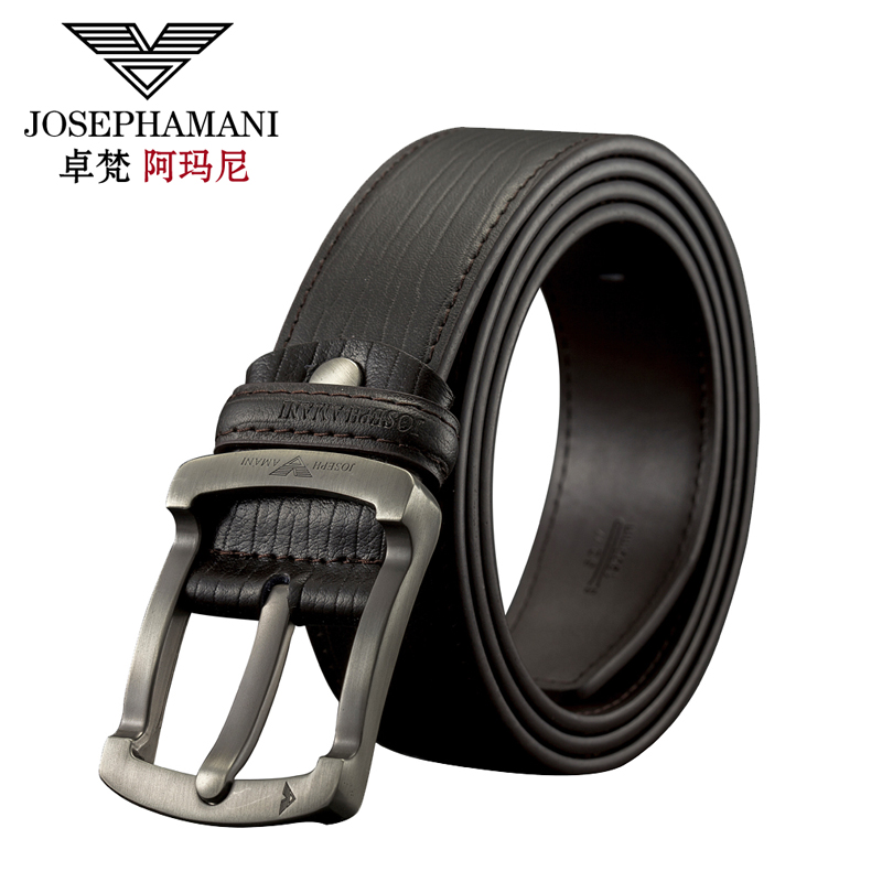 Zhuo fan armani men's pin buckle leather belt wild casual leather belt pure leather belt korean version of the influx of young students