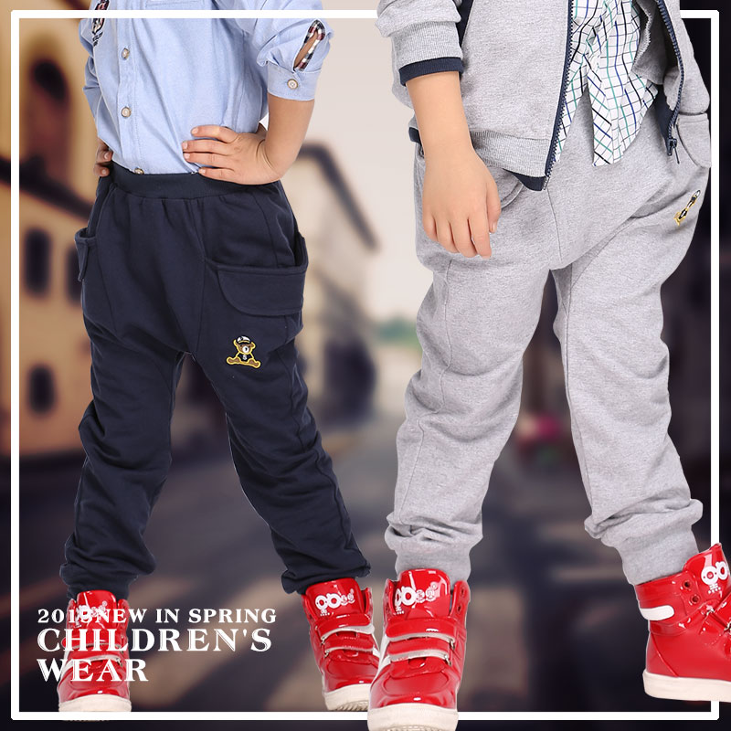 Zhuowei music children's spring boys cotton casual trousers casual pants knit pants casual pants boys pants