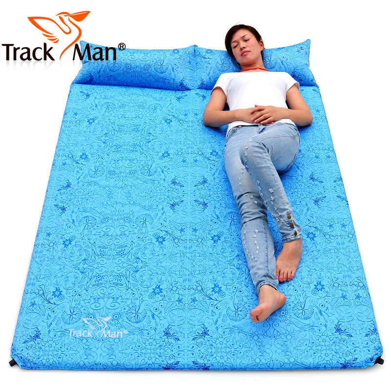 Ziyou ren outdoor automatic inflatable cushion pad to increase the thickness of the double plus wide tent moisture mat picnic ultralight air bed