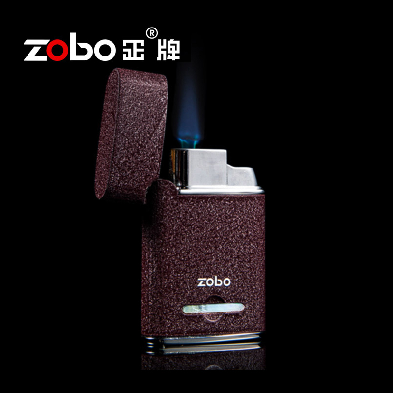 Zobo genuine cigarette lighter windproof lighter blue flame lighter refillable lighters creative boutique for men and women personality