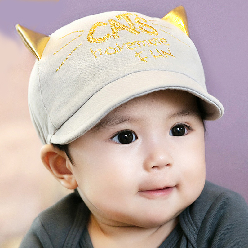0-3-6-12-18 months in spring and autumn baby hat baby hat children hat cap cotton duck tongue 0904