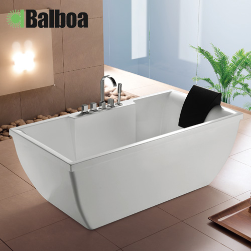 Get Quotations · 1.7 M Rectangular Bathtub Massage Bathtub Acrylic Bathtub  Bathtub White BB207