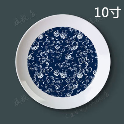 10 inch decorative painting the living room blue and white porcelain plate hanging plate sit plate wall plate ceramic dish creative home arts disc