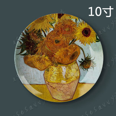 10 inch van gogh painting porcelain decorative plate hanging plate sit plate ceramic dish plate wobble creative home wall art disc