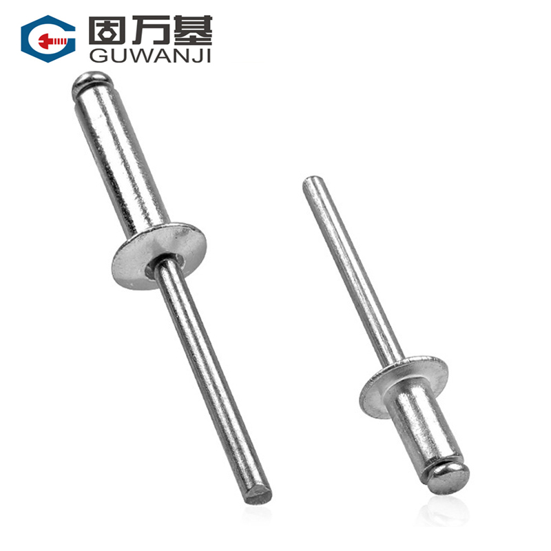 [100] aluminum pop rivets blind rivets aluminum rivets round pumping heart rivets open type k m 2.4M3.2M4