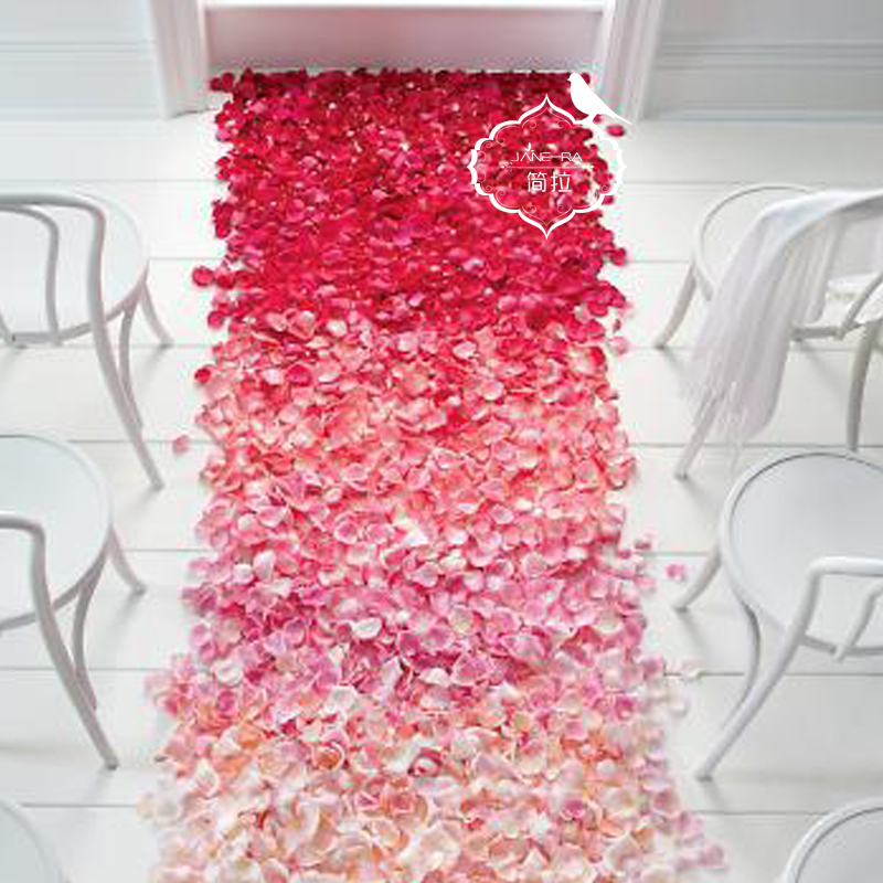 100 simulation rose petals arranged marriage proposal romantic wedding wedding marriage room decoration supplies fake sahua