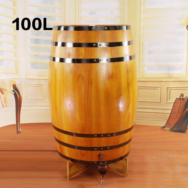 100l oak barrels decorative wooden props wooden kegs vertical wooden oak barrels oak wine barrels