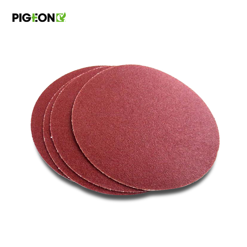 100mm piece flocking sandpaper disc sand disc back velvet sandpaper sheet brushed velvet backing adhesive polishing polishing sand paper