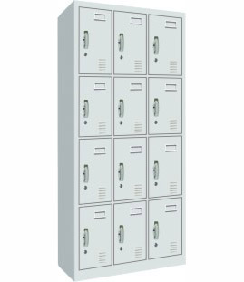 Shanghai office furniture steel mechanical twelve door wardrobe cupboard cabinet file cabinet office locker GG-027