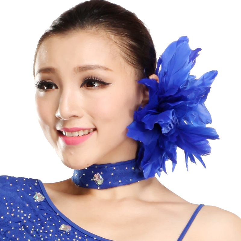 Medallion new ballroom latin dance headdress/latin dance headdress/head flower ornaments handmade duck feather