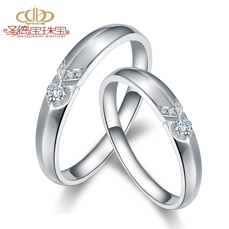 Holiness k gold diamond couple rings on the ring genuine diamond platinum diamond wedding rings couple rings male and female models