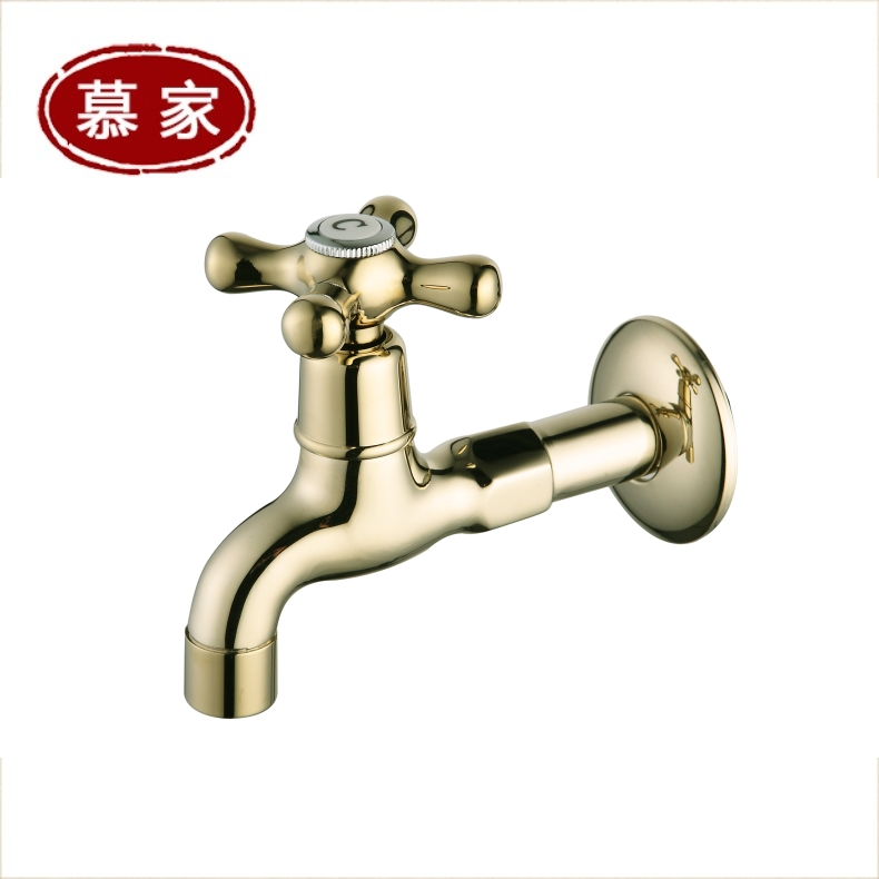 Mu family zirconium gold plated euclidian quick opening single cold washing machine faucet mop water nozzle extended edition