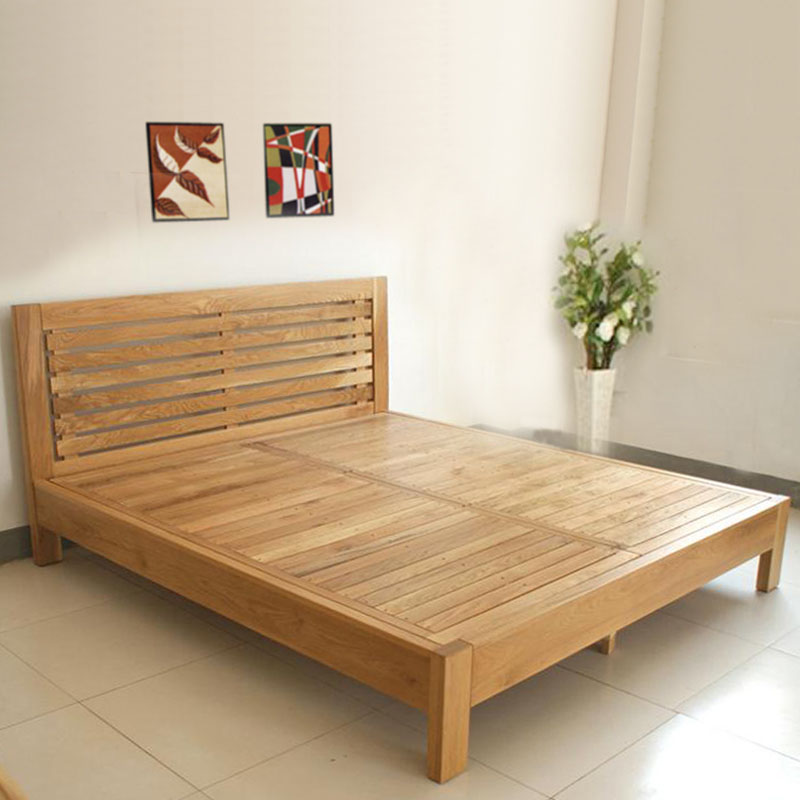 Jbt/bai jia ting white oak bed wood bed double bed 1.8 m oak wood furniture non oak bed ZN60