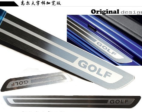 14 volkswagen new bora lavida sagitar passat polo golf 6 Pa welcome pedal door sill strip for automobile