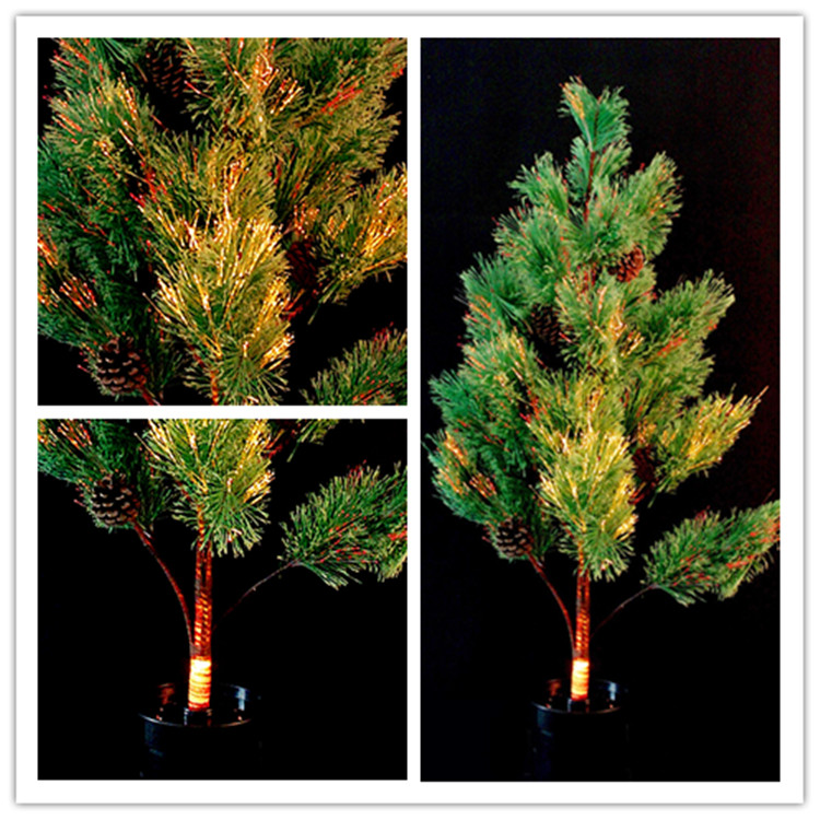 1115 chong cheng electronics pinecones and tree luminous light emitting fiber optic christmas tree christmas supplies high 90CM wide 40 cm