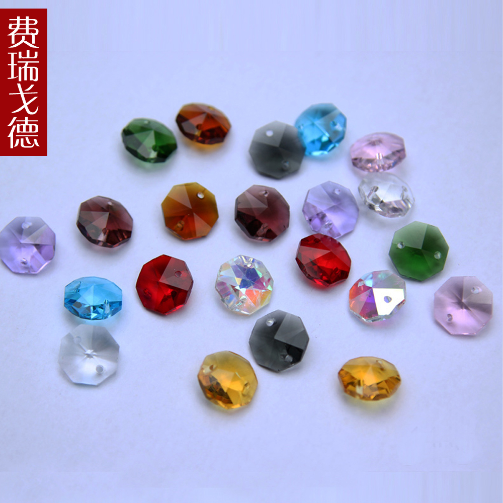 Feiruigede crystal bead curtain bead curtain loose beads diy beaded accessories 14mm mm octagonal beads