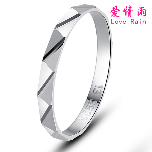 Cheap female ring love rain simple fashion 6 sterling silver ring tail ring korean silver jewelry free lettering shipping