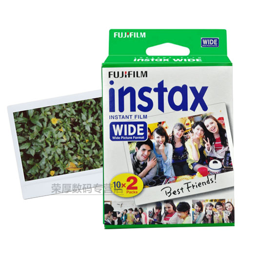 An imaging fuji polaroid photo paper white side instax210 wide 200/300 wide 5 inch film