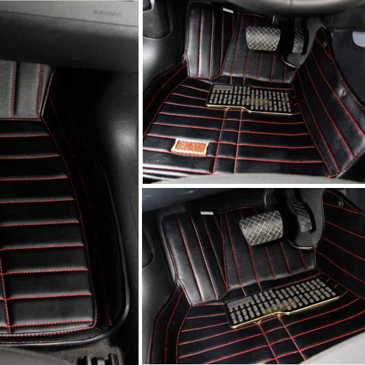 Audi a4 a6l q5 full surround stereo mats car mats/leather wear and disposable mats