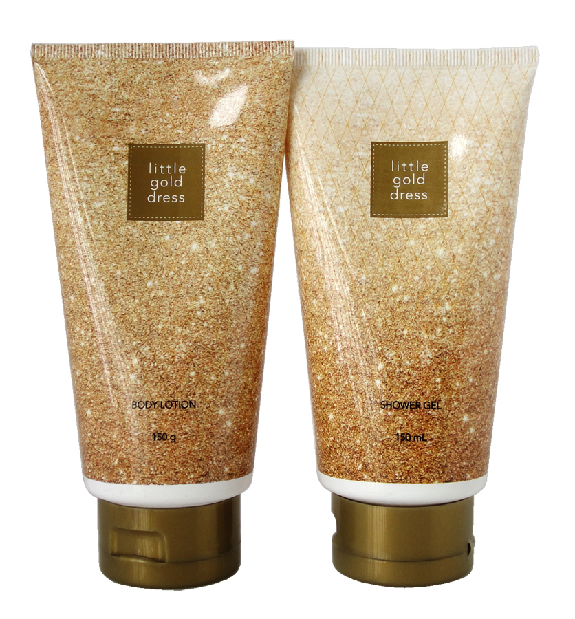 Free shipping avon oscars dress body lotion 150 ml + 150 ml perfume shower gel body lotion body care kit
