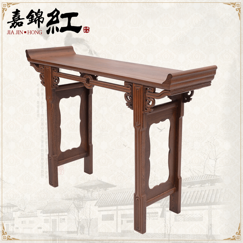 Chinese classical mahogany furniture wenge furniture buddha worship the god of alice head case zhuoan desk mahogany wood incense gongshen taiwan