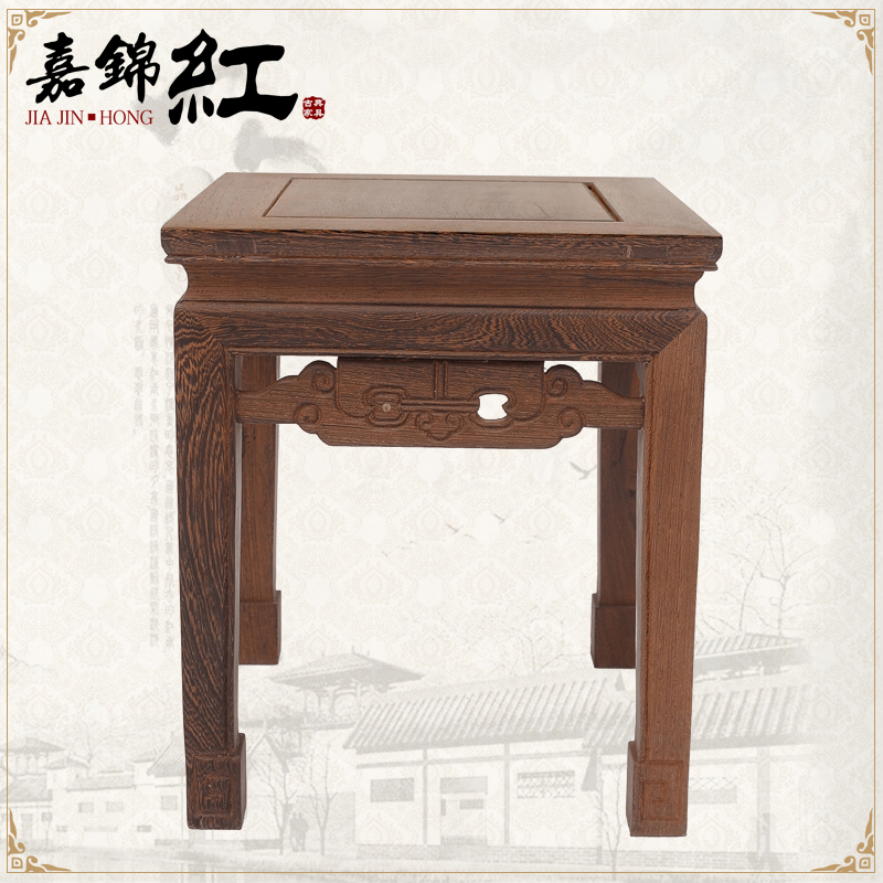 Chinese classical mahogany furniture small furniture mahogany antique furniture wenge wood stool stool stool wood fangdeng small stool