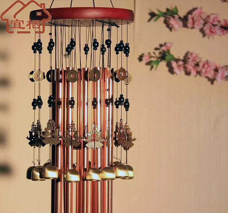 12 colorimetric tube 15 copper copper copper copper bell chimes bell file beas send blessing lucky metal wind chimes wind chimes