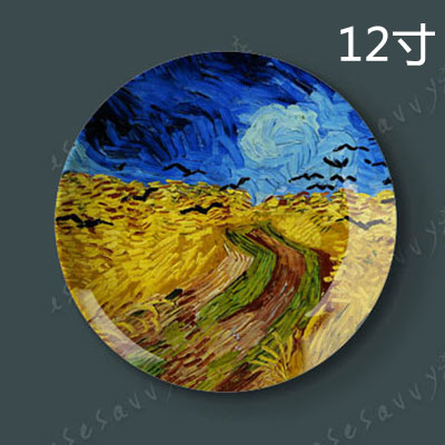 12 inch van gogh painting porcelain decorative plate hanging plate sit plate ceramic dish plate wobble creative home wall craft dish