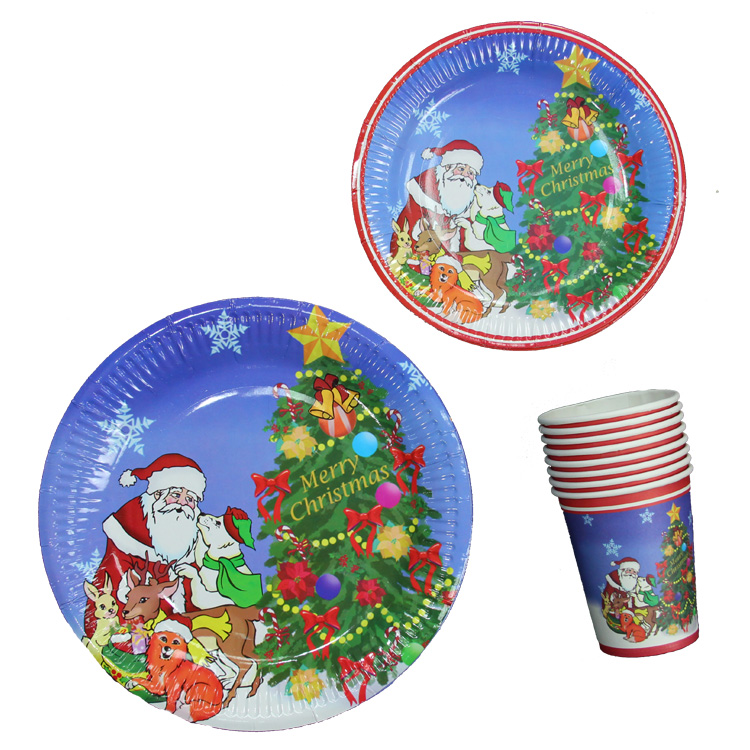 Halloween cosplay masquerade performance apparel accessories decorative tableware party paper cups paper plates