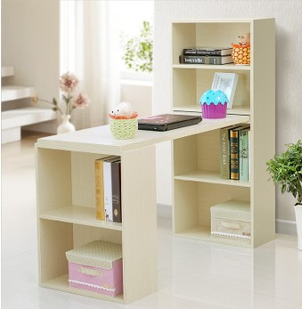 Environmental desktop computer desk desk desk combination bookcase bookcase with desk book tables minimalist office bookcase
