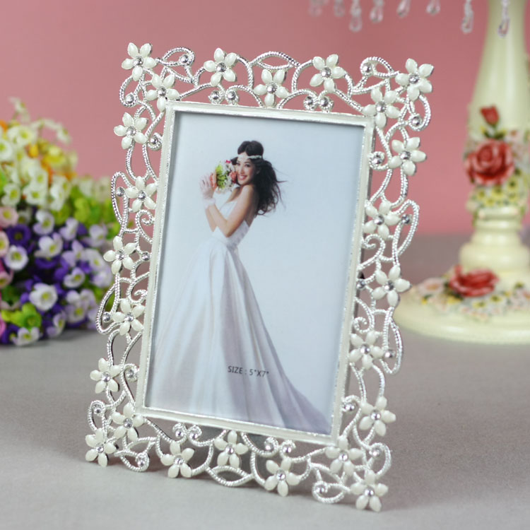 Tqj/6 inch/7 inch euclidian alloy frames/inlay diamond/wedding life according to a rectangular shape Picture frame/t31058.5