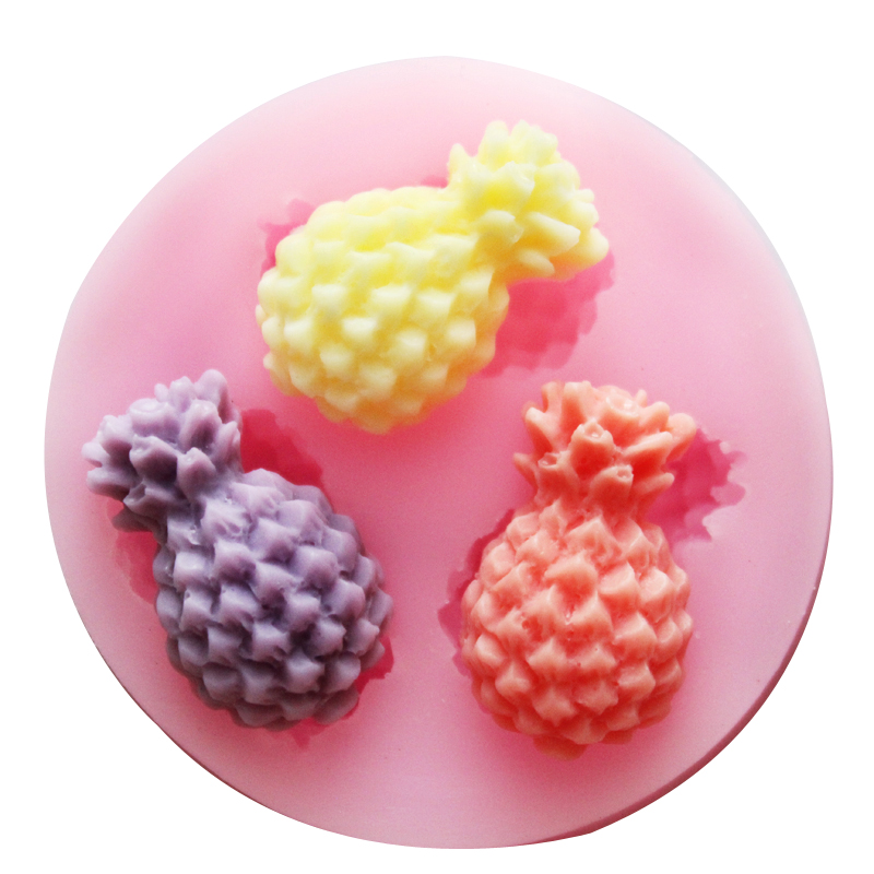 Nicole silicone mold fondant cake tools silicone chocolate mold pineapple pineapple mini fondant mold making