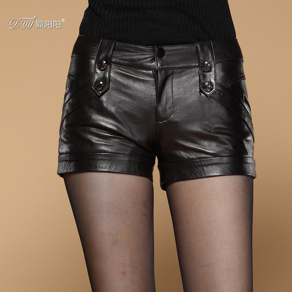 Special ding yang yang 2015 new winter ms. haining leather sheep skin leather shorts shorts shorts fashion