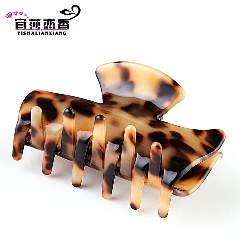 Love hong yi sha korean hair accessories hairpin hairpin leopard hair caught gripper head flower headdress korean version of horsetail hair