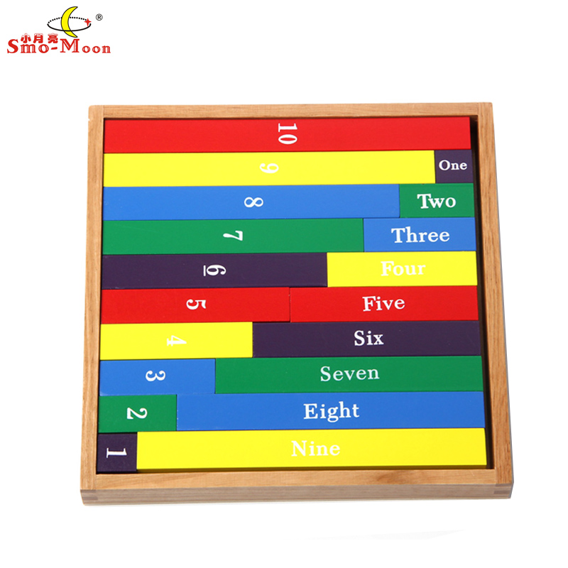 Small moon mathematics teaching aids mongolia and taiwan soe lee kindergarten early childhood educational toys color decimal stick