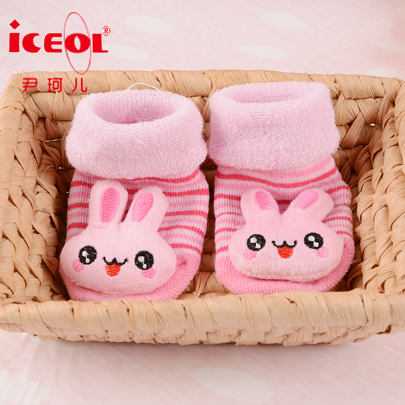 Newborn baby thick winter socks baby socks autumn and winter warm shoes plush floor socks 0-1-year-old
