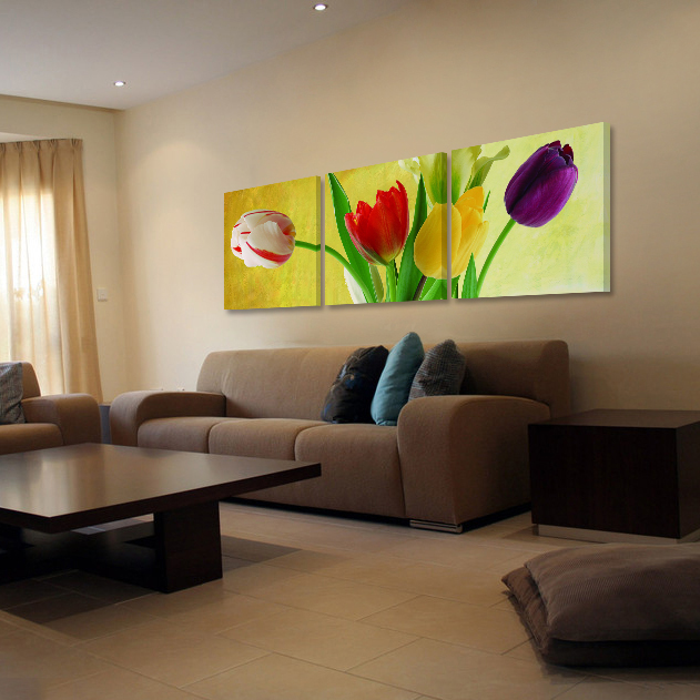 Flower decorative painting the living room modern crystal frameless painting decorative painting mural painting decorative painting the living room dining room decorative painting