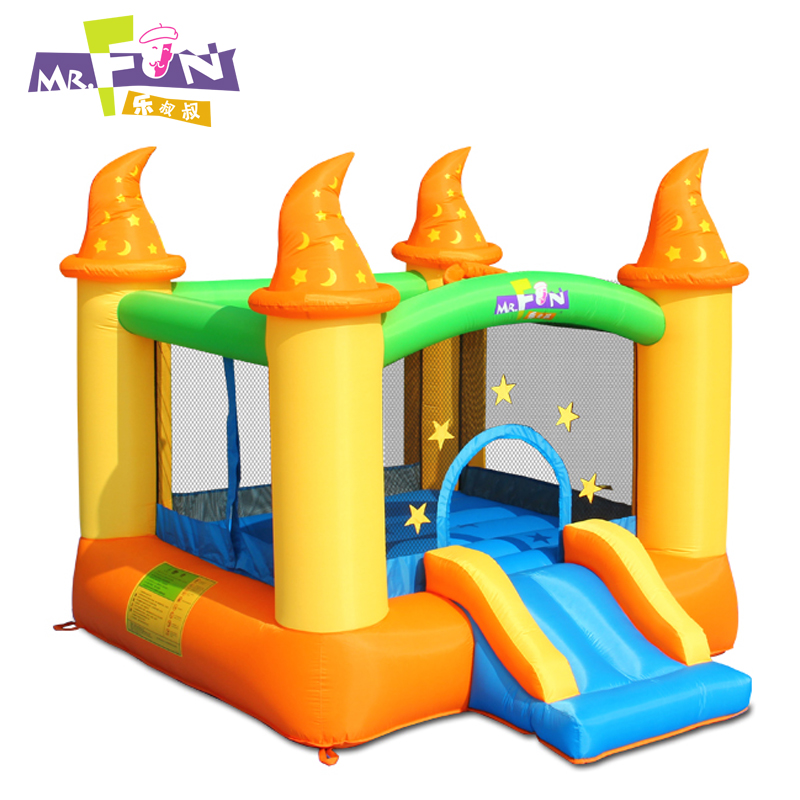 Le uncle phantasmagorical orange home trampoline inflatable castle fort naughty children's toys trampoline