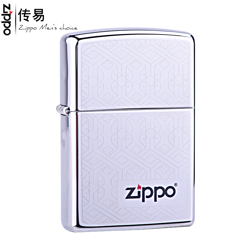 Original genuine zippo lighter mirror us counter genuine zippo classic signs of woven flowers 24763