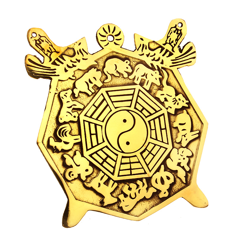Wide margin de copper feng shui bagua mirror flat mirror bronze mirror pendant zodiac bagua mirror ornaments lucky craft