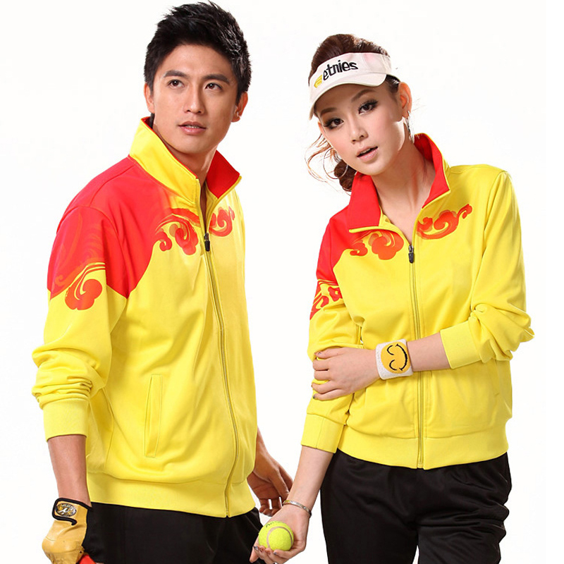 338e38a1fd2f Get Quotations · Xl spring sports suit collar casual men and women long  sleeve shirt and trousers couple models