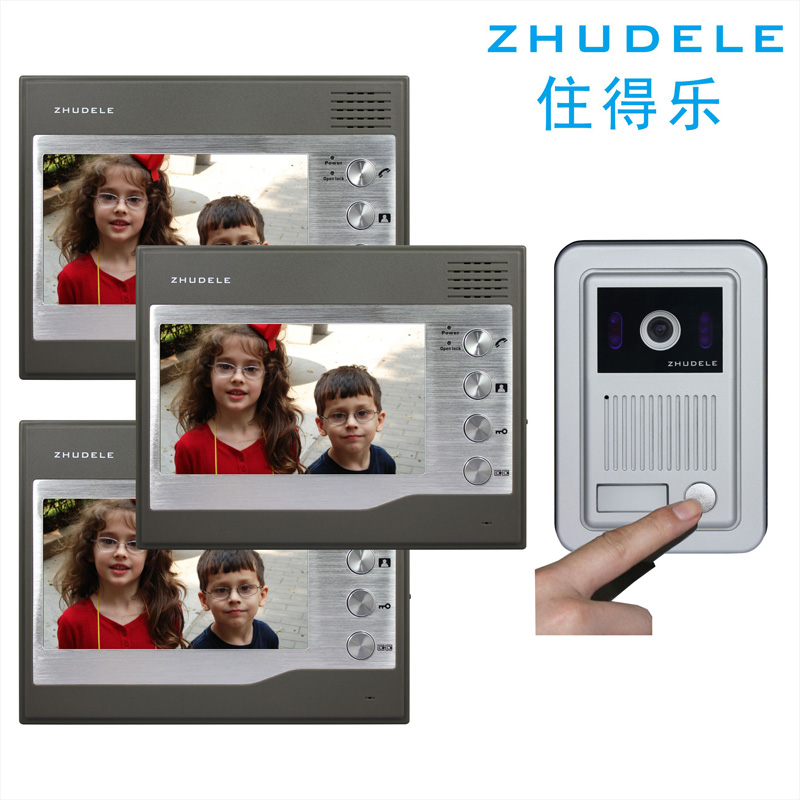 Live music a drag three 7 inch screen color video doorbell video intercom doorbell metal surface mounted outside the machine 27Q3